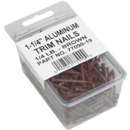 Amerimax 7709019 Aluminum Soffit Nails 1/4 Pound 1-1/4 Inch Brown