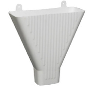 Amerimax 85208 PVC Downspout Funnel For 2 By 3 Inch Downspout White