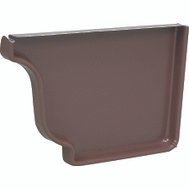 Amerimax 2520619 Brown Aluminum Right End Cap 5 Inch