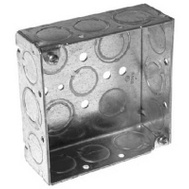 Raco 8189 4 Inch Square Box 1 1/2 Inch Deep Ko