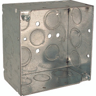 Raco 8232 4 Inch Square Outlet Box With 1/2 3/4 Ko