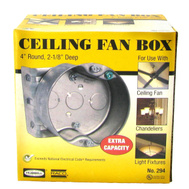 Raco 294 4 Inch Round Fan Box