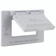 Hubbell 5101-1 Bell Gfi Horizontal Mount Cover White