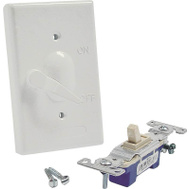 Hubbell Electrical 5121-1 Bell Single Gang Switch White Cover