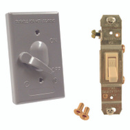 Hubbell 5141-0 Bell Weatherproof 1 Gang Grey 3 Way 15A Switch Cover