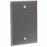 Hubbell 5173-5 Bell 1 Gang Blank Cover Gray