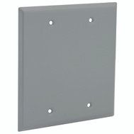 Hubbell Electrical 5175-0 Bell Blank Cover 2 Gang Box Mount Gray