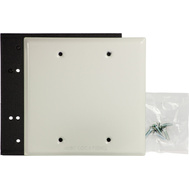 Hubbell Electrical 5175-1 Bell Blank Cover 2 Gang Box Mount White