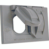 Hubbell Electrical 5180-0 Bell 1 Gang Duplex Receptical Cover Gray