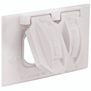 Hubbell Electrical 5180-6 Bell 1 Gang Duplex Receptacle Cover White