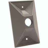 Hubbell-Raco 5197-5 Weatherproof Electrical Lamp Holder Cover 4 Round Pack of 6 Gray Carded 3 Outlets