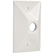 Hubbell 5186-6 .5 Inch 1 Out Cluster Cover White