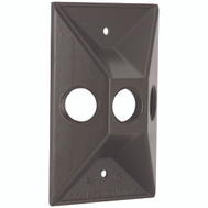 Hubbell Electrical 5189-2 Bell Rectangular Cover 3 1/2 Inch Bronze