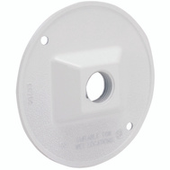 Hubbell Electrical 5193-1 Bell Round Cover 1 1/2 Outlet White