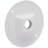 Hubbell Electrical 5193-6 Bell 1/2 Round Outlet Cover White