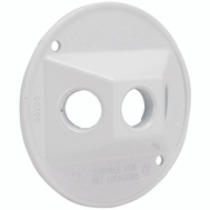 Hubbell Electrical 5197-1 Bell Round Cover 3 1/2 Outlet White