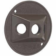 Hubbell 5197-2 Bell Round Cover 3 1/2 Inch Bronze