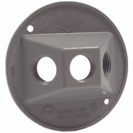 Hubbell 5197-5 Bell Round Lampholder Cover Gray