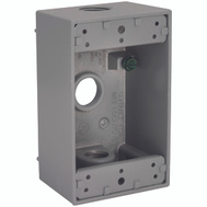 Hubbell Electrical 5320-0 Bell 1 Single Gang Aluminum 3 Outlet Box Gray