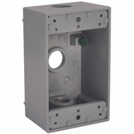 Hubbell Electrical 5320-5 Bell 1 Gang Aluminum 3 Outlet Box Gray
