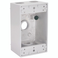 Hubbell Electrical 5321-1 Bell Rectangular Box 1G 4 1/2 Outlets Wh