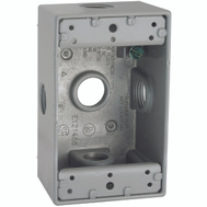 Hubbell Electrical 5323-0 Bell 1 Gang Aluminum 5 Outlet Box Gray