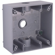 Hubbell 5333-0 Bell Weatherproof 2 Gang Gray Box 3Out/2 Inchdeep