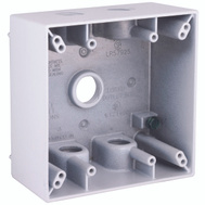 Hubbell 5337-1 Bell Rectangular Box 2 Gang 5 1/2 Outlets White