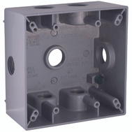 Hubbell Electrical 5338-0 Bell Rectangular Box 2 Gang 7 1/2 Outlets Gray