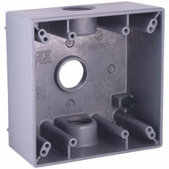 Hubbell Electrical 5341-0 Box Outlet Alum 2G 32Cu In Gry