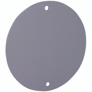 Hubbell 5374-0 Bell 4 Round Blank Cover Plate Gray