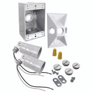 Hubbell Electrical 5818-6 Bell Floodlight Kit Wthrprf 2Lt Wht