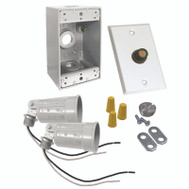 Hubbell Electrical 5883-6 Bell Flood Light Kit With Photocell White