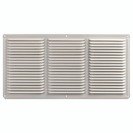 LL Building EAC16X8W 16 Inch By 8 Inch Aluminum Undereave Vent White