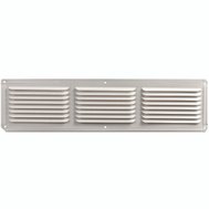 LL Building EAC16X4W 16 Inch By 4 Inch Aluminum Undereave Vent White