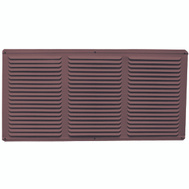 LL Building EAC16X4BR 16 Inch By 4 Inch Aluminum Undereave Vent Brown
