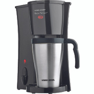 Applica DCM18S Black & Decker Brew N Go Coffeemaker With Silver Thermal Mug