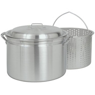 Barbour 8000 Bayou Classic 80 Quart Stockpot Steamer With Basket