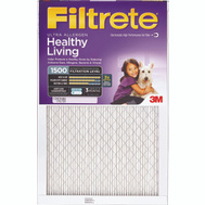 3M 2002-6 Filtrete Healthy Living Ultra Allergen Filters 20 Inch By 20 Inch By 1 Inch