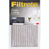 3M 312-6 Filtrete Clean Living Basic Dust Filters 24 Inch By 24 Inch By 1 Inch