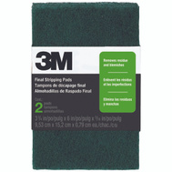3M 10113 Scotch Brite Final Stripping Pads 6 Inch By 3-7/8 Inch, 2 Pack
