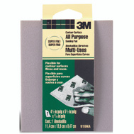 3M 916 Sanding Sponge Contour Area, Extra Fine, 4-1/2 Inch By 5-1/2 Inch By 3/16 Inch