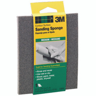 3M 918DC-NA Sanding Sponge Contour Area, Medium, 4-1/2 Inch By 5-1/2 Inch By 3/16 Inch