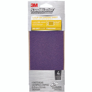 3M 9652 Sand Blaster Finishing Sander Sheets Clip On 180 Grit 3-2/3 Inch By 9 Inch, 4 Pack