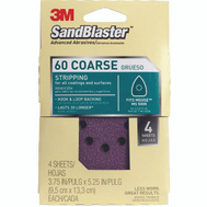 3M 9670SB-ES Sand Blaster Power Sanding Sheets 3/4 Inch By 5 Inch 60 Grit, 4 Pack