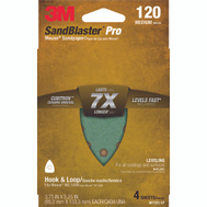 3M 9672SB-ES Sand Blaster Power Sanding Sheets 120 Grit, 4 Pack