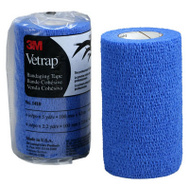3M 1410B Vetrap Bandaging Tape 4 Inch By 5 Yard Rolls Blue