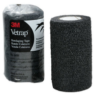 3M 1410BK Vetrap Bandaging Tape 4 Inch By 5 Yard Rolls Black