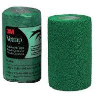 3M 1410HG Vetrap Bandaging Tape 4 Inch By 5 Yard Rolls Hunter Green