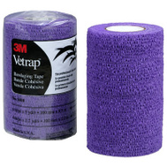 3M 1410PR Vetrap Bandaging Tape 4 Inch By 5 Yard Rolls Purple